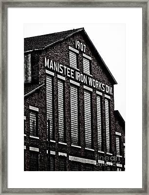 Manistee Iron Works Framed Print