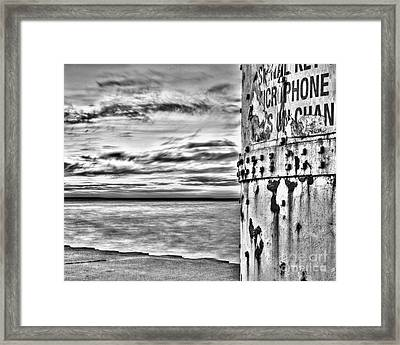 Manistee North Pierhead Lighthouse Base Framed Print by Twenty Two North Photography