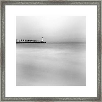 Manistee Pierhead Light Framed Print by Jeff Burton