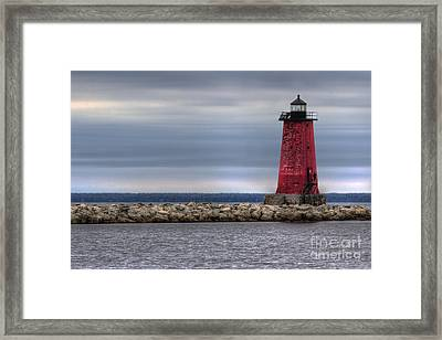Manistique Lighthouse Framed Print by Twenty Two North Photography