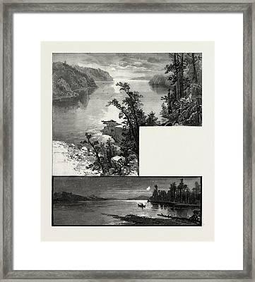 Manitoba, Cross Lake Bottom, Lake Deception Top Framed Print