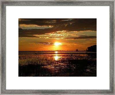 Manitoba Sunset Framed Print