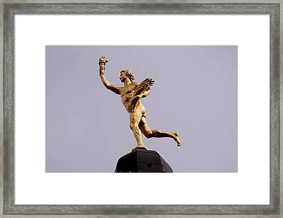 Manitoba's Golden Boy- A Historical Monument Framed Print by Larry Trupp
