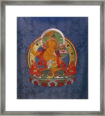 Manjushri Framed Print by Leslie Rinchen-Wongmo