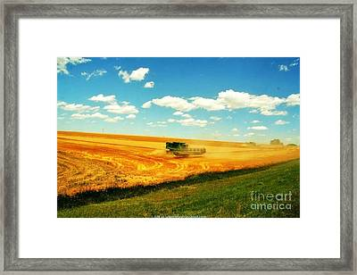 Mankato Nebraska Wheat Harvest Framed Print by PainterArtist FIN