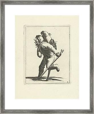 Manke Man, Pieter Jansz Framed Print by Pieter Jansz. Quast And Frederik De Wit