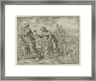 Mankind Must Learn Everything, Philips Galle Framed Print