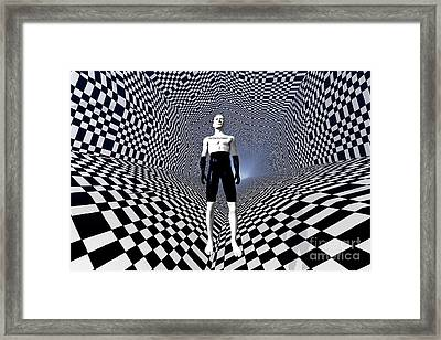 Mankinds Use Of Binary Language Framed Print by Mark Stevenson