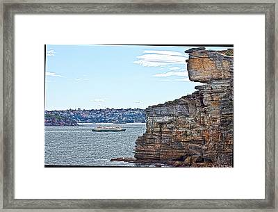 Framed Print featuring the photograph Manly Ferry Passing By  by Miroslava Jurcik