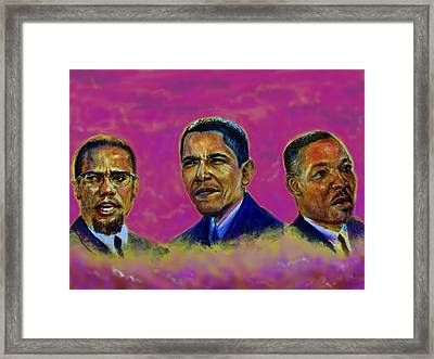 M.a.n...malcolm- Obama- Martin Framed Print
