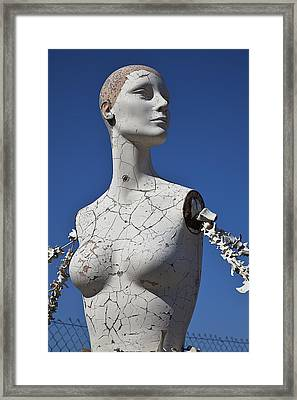 Mannequin Against Blue Sky Framed Print