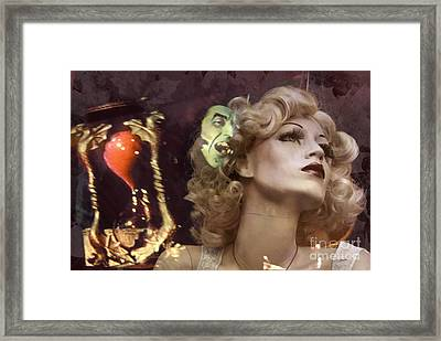 mannequin fantasy photograph - A Matter of Time Framed Print