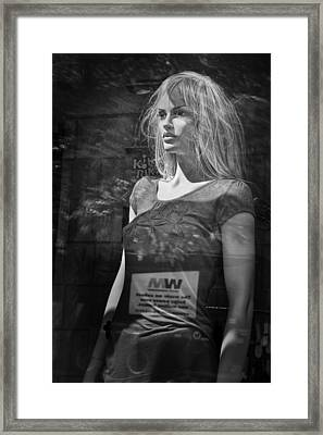 Mannequin In A Window Display Framed Print