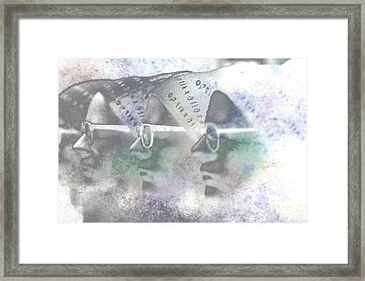 Mannequin With Glasses In Digital Art Framed Print by Tommytechno Sweden