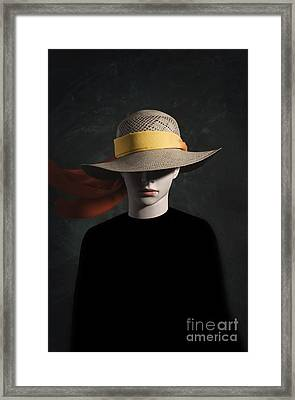 Mannequin With Hat Framed Print by Carlos Caetano