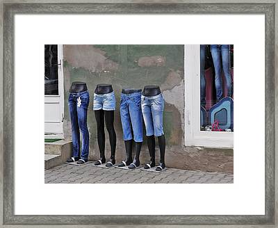 Mannequins In Draculas City Framed Print by Ion vincent DAnu