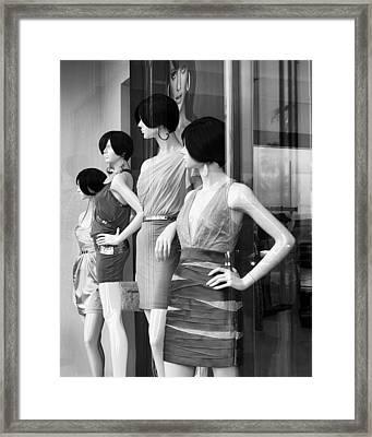 Mannequins Palm Desert Framed Print