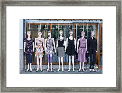 Mannikins Outside A Clothes Shop In Bishkek Kyrgyzstan  Framed Print by Robert Preston