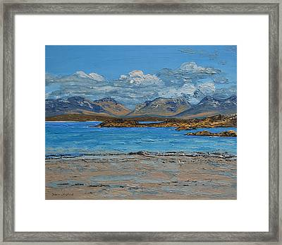 Mannin Bay And The Twelve Bens Mountains Connemara Ireland Framed Print