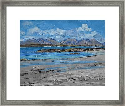 Mannin Bay Beach Ballyconneelly Connemara Framed Print