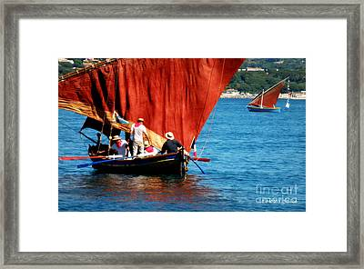 Manning The Oars Framed Print by Lainie Wrightson