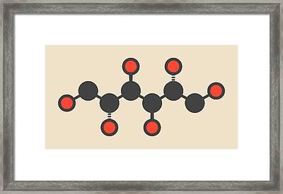 Mannitol Molecule Framed Print by Molekuul