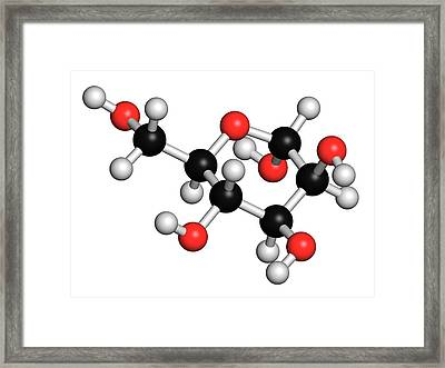 Mannose Sugar Molecule Framed Print