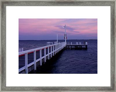 Manns Beach Jetty Framed Print by Evelyn Tambour