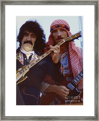Manny Charlton And Zal Cleminson Of Nazareth  At Day On The Green 4th Of July 1979 Framed Print by Daniel Larsen