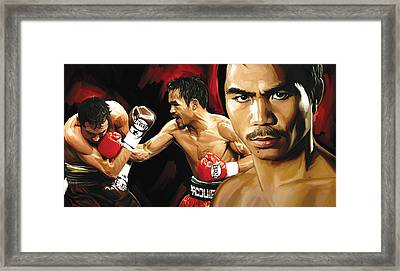 Manny Pacquiao Artwork 2 Framed Print by Sheraz A