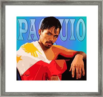 Manny Pacquio Framed Print by John Keaton