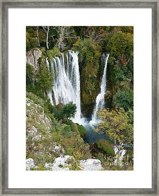 Manojlovacki Slap - Krka National Park - Croatia Framed Print by Phil Banks