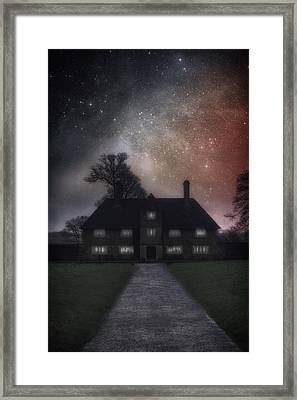 Manor At Night Framed Print by Joana Kruse