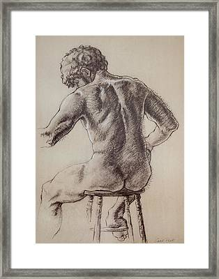 Man's Back Framed Print by Sarah Parks