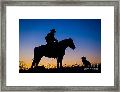 Man's Best Friend Framed Print by Inge Johnsson