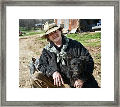 Mans Best Friend Framed Print by Susan Leggett