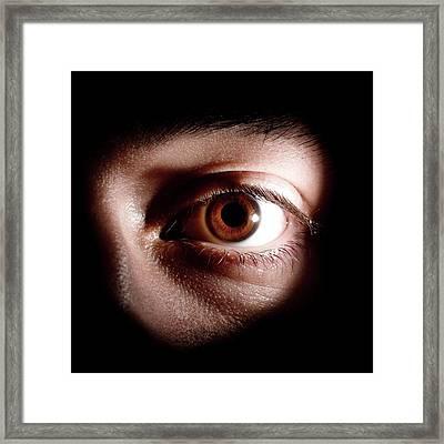 Man's Eye Framed Print by Mcs