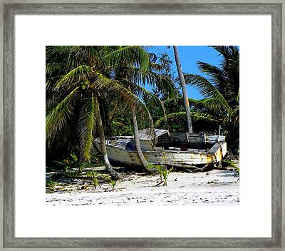 Man's Lost Dream Framed Print by Karen Wiles
