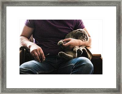 Man's Thing Framed Print by Yevgeni Kacnelson