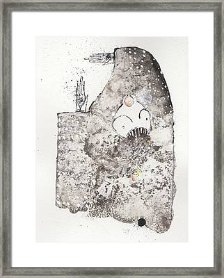 Mans Worship Of The Unknown With Uncanny Fever Hark Hark Framed Print by Mark M  Mellon