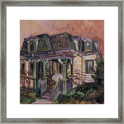 Framed Print featuring the painting Mansard House With Nest Egg by Tilly Strauss