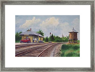 Mansfield Railroad Station Framed Print