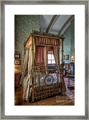 Mansion Bedroom Framed Print by Adrian Evans