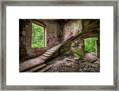 Mansion Graffiti Framed Print