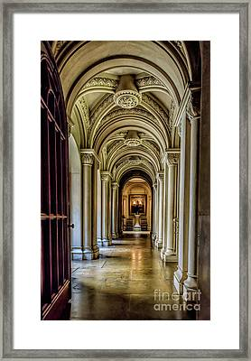 Mansion Hallway Framed Print by Adrian Evans