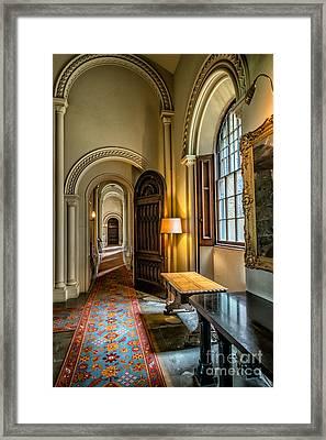 Mansion Hallway II Framed Print by Adrian Evans