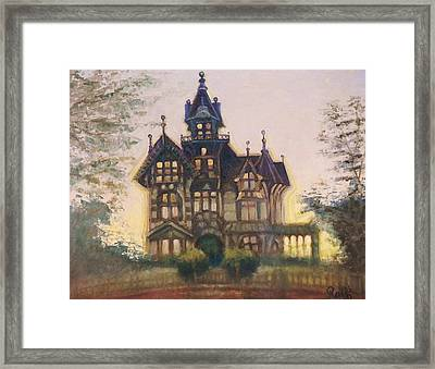 Mansion In Eureka Framed Print by Raffi Jacobian