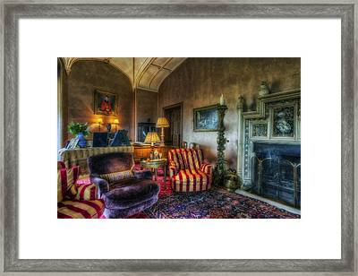 Mansion Lounge Framed Print by Ian Mitchell