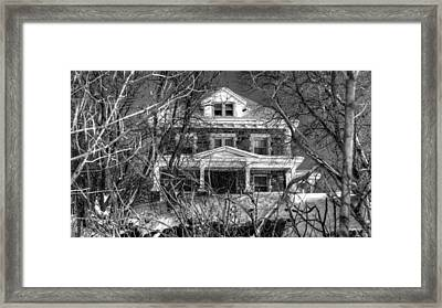 Mansion On The Hill Framed Print by Ric Potvin