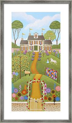 Mansion Over The Hilltop Framed Print by Mary Charles